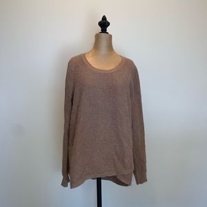 Madewell brown Waffle knit faux wrap sweater 3458